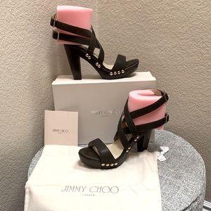 Jimmy Choo Unity Platform Sandals.